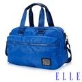 福利品 ELLE 法式優雅休閒系列 輕細尼龍防潑水手提/側背包- 海藍色