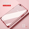 For Oppo R9s Soft Case Transparent Plating Shining Cover For Oppo R9s Casing Clear Antioxidant housing