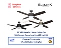 ELMARK CRESCENDO 52 ABS Blades with Remote Contorl and 24W LED Light Kit Ceiling Fan