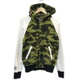 A BATHING APE 2015S/S SHARK SWEAT VARSITY JACKET棉布鯊魚Parker kindal
