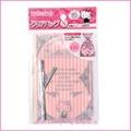 asdfkitty可愛家☆KITTY粉色直條花邊塑膠袋/包裝袋/糖果餅乾收納袋-S號-日本正版