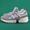 【iSport愛運動】New Balance 復古鞋 公司貨 WS574PRC 女款 灰紫
