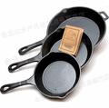 Old Mountain 鑄鐵平底鍋/煎鍋/鑄鐵鍋/Lodge可參考 6.5吋/8吋/10.5吋三件組 10100