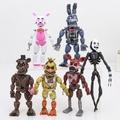 6件/套 五夜熊 玩具熊的午夜后宫 弗雷迪 狐狸 奇卡 閃電熊 公仔 收藏摆件 动漫模型 手辦玩具