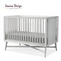 LEVANA【3合1系列】嬰兒成長床(紐約設計款)-典雅白/黑檀色