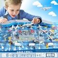 兒童玩具飛機場仿真國際機場模型場景拼裝男孩玩具客機道教具套裝