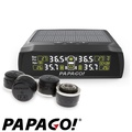 PAPAGO ! TireSafe S72E無線太陽能胎外式輕巧胎壓偵測器+擦拭布(二年保固)