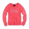 美國百分百【全新真品】Armani Exchange 大學T 長袖 T恤 T-shirt AX 水鑽 玫粉 女XS S號 H634