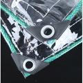 【萌樂樂】#熱款#加厚防雨布透明遮雨布透明帆布防水透明陽臺擋雨簾防曬PVC塑膠布