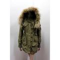 7度c 日本品牌 SPIRAL GIRL N3B軍綠色帥氣軍裝皮草邊帽外套 刷毛內裡可拆 2381元低價起標SLY