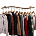 Wall Mounted Clothes Hanging System, YIFAN Iron Clothing Hanger Rack for Living Room Bedroom Laundry Room - Bronze - intl