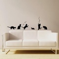 【Smart Design】創意無痕壁貼◆快樂貓咪 8色可選