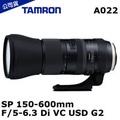 TAMRON SP 150-600mm F/5-6.3 Di VC USD G2 A022 (公司貨)