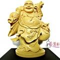 【養慧軒】金剛砂陶土精雕佛像 彌勒佛(木色)
