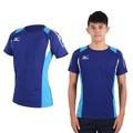 【MIZUNO】男排球短袖上衣- T恤 路跑 慢跑 亞瑟士 丈青藍