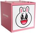 【真愛日本】15031400022 木製積木盒-兔子粉 LINE公仔 饅頭人兔子熊大 居家 收納盒 正品 限量