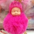 買一送一❤️睡萌娃娃掛件 可愛小老外 睡眠寶寶 安撫娃娃 睡夢睡眠娃娃 嬰兒毛球鑰匙掛件 可愛汽車鑰匙扣 包包掛件