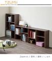 空櫃/收納架/收納櫃 TZUMii 創意四層八格櫃-胡桃木色