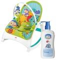 費雪牌 可攜式兩用震動安撫躺椅+貝恩Baan 嬰兒沐浴精/200ml