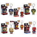 KissX Funko POP Marvel Avenger Iron Man Captain America Batman Thor Deadpool Spiderman Batman Hulk Minifigure Minifigures Mini Figure Figurine Figurines Kids Child Adult Boys Girls Children Toy Toys Key Chain Keychain