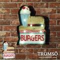 TROMSO工業風-紐約時尚街頭LED招牌燈 漢堡/ 掛畫 1980S 復古 美式 夜燈 文創【H0329001】