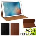 蘋果 Apple iPad 9.7吋 (2017年版) 平板電腦專用保護套 直接斜立式牛皮皮套