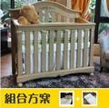 LEVANA【4合1系列】肯辛頓 嬰兒成長床(組合特惠:床+5件組+雙面床墊) -3色