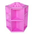 360度旋轉化妝品收納架-粉紅色