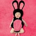現貨~寶寶造型服~~黑色款小兔子服+帽子☆║團拍║攝影║嬰兒寫真║☆