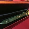 玉七星劍(付盒)神兵玉器訂做,神明兵器玉石七星劍太子槍環戢