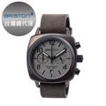 [BRISTON] ClubmasterChrono 簡約時尚方形腕錶 鐵灰 皮錶帶15140-SPG-C-12-LVB