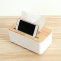 日創優品 震撼價-橡木面紙盒-中(方形手機槽)