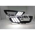 ●○RUN SUN 車燈,車材○● 全新 福特 16 17 FOCUS MK3.5 LED雙色野馬款 日行燈 跑馬方向燈