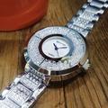 實拍★Creyes鐘錶★ SFNY 銀色碎鑽大錶面腕錶 仿珍珠母貝面 #MK 三眼 勞力士 情人節 禮物 情侶 DW