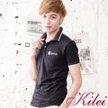 【Kilei】滾邊蘋果圖樣棉質POLO衫XA1451(魅力黑)賠售特價