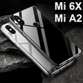 ★ Xiaomi Mi 6X / Mi A2 Transparent Crystal Clear Case Casing Cover / Tempered Glass Screen Protector