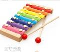 兒童嬰兒積木手敲琴8個月寶寶益智樂器玩具1-2-3周歲八音小木琴 城市玩家