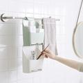 ♚MY COLOR♚浴室掛式收納盒 可瀝水 免打孔 廁所 置物架 衛生間 毛巾掛籃 【A50】