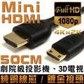 K-Line Mini HDMI to HDMI 1.4版 影音傳輸線 50CM