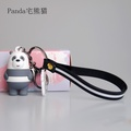 Our naked bear keychain drop plastic doll pendant we bare bears