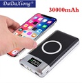 Wireless 30000mah Power Bank External Battery Bank Built-in Wireless Charger Powerbank Portable Char
