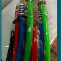非童小可 古早味 懷舊童玩 (3隻) 寶劍 日本武士刀  塑膠劍 大60cm 小42cm 附雙節棍22cm 童玩