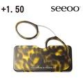 【Seeoo】奧地利攜帶型夾鼻式老花眼鏡(琥珀)+1.50