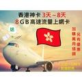 [可面交]香港網卡3天4天5天6天7天8天上網 8GB高速流量 香港上網卡 香港上網 香港Sim卡 香港電話卡[P02]