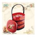 過年節慶三層手提置物糖果盒 K-4900