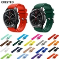 CRESTED Gear S3 Frontier Strap For Samsung Galaxy watch 46mm band Gear S 3 Classic Smart watch bracelet 22mm silicone correa 46
