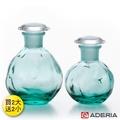 【ADERIA】日本進口圓形玻璃調味罐 80+100ML買兩大送兩小(藍綠)