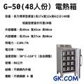 GK.COM 現貨+預購 台一 48人份 電熱保溫箱/電熱蒸飯箱/蒸便當箱 /便當加熱 /電熱箱 (免加水)插電即用