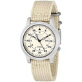 Seiko Mens SNK803 Seiko 5 Automatic Watch with Beige Canvas Strap