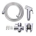 Handheld Shower Head Douche Toilet Bidet Spray Wash Jet Shattaf Diverter Set - intl